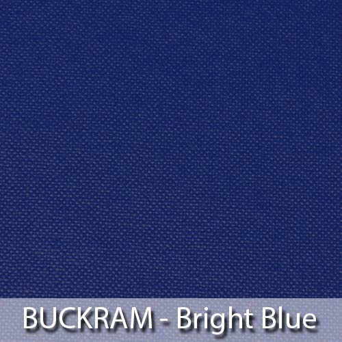 picture of bright blue buckram book cloth