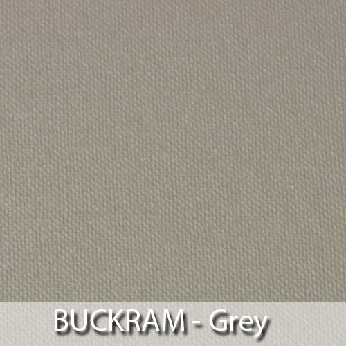 picture of grey buckram book cloth