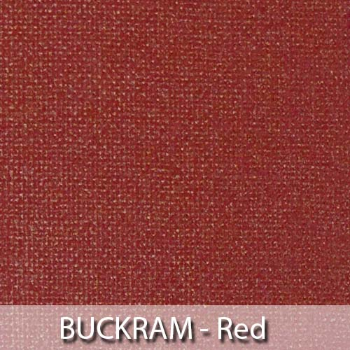 picture of red buckram book cloth