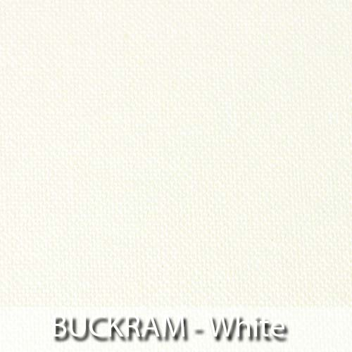 picture of white buckram book cloth