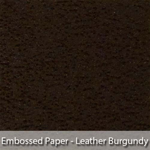 picture of burgundy colour leather look embossed paper