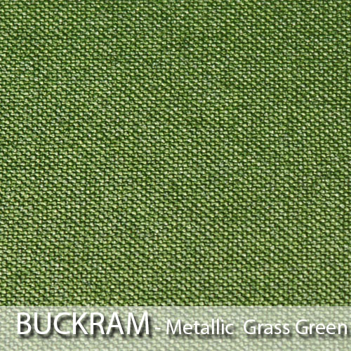 picture of metallic grass green book cloth