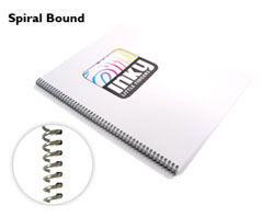 picture of a coil bound book
