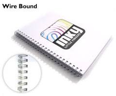 picture of a wire bound book
